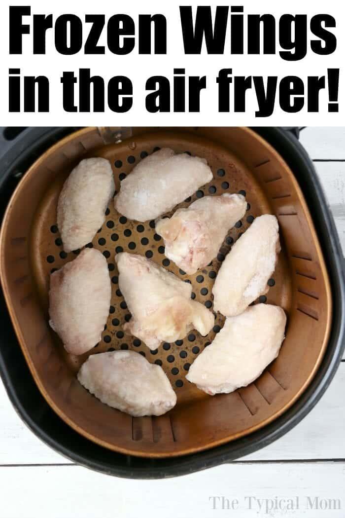air fryer frozen wings