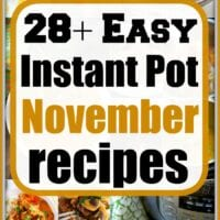november instant pot recipes