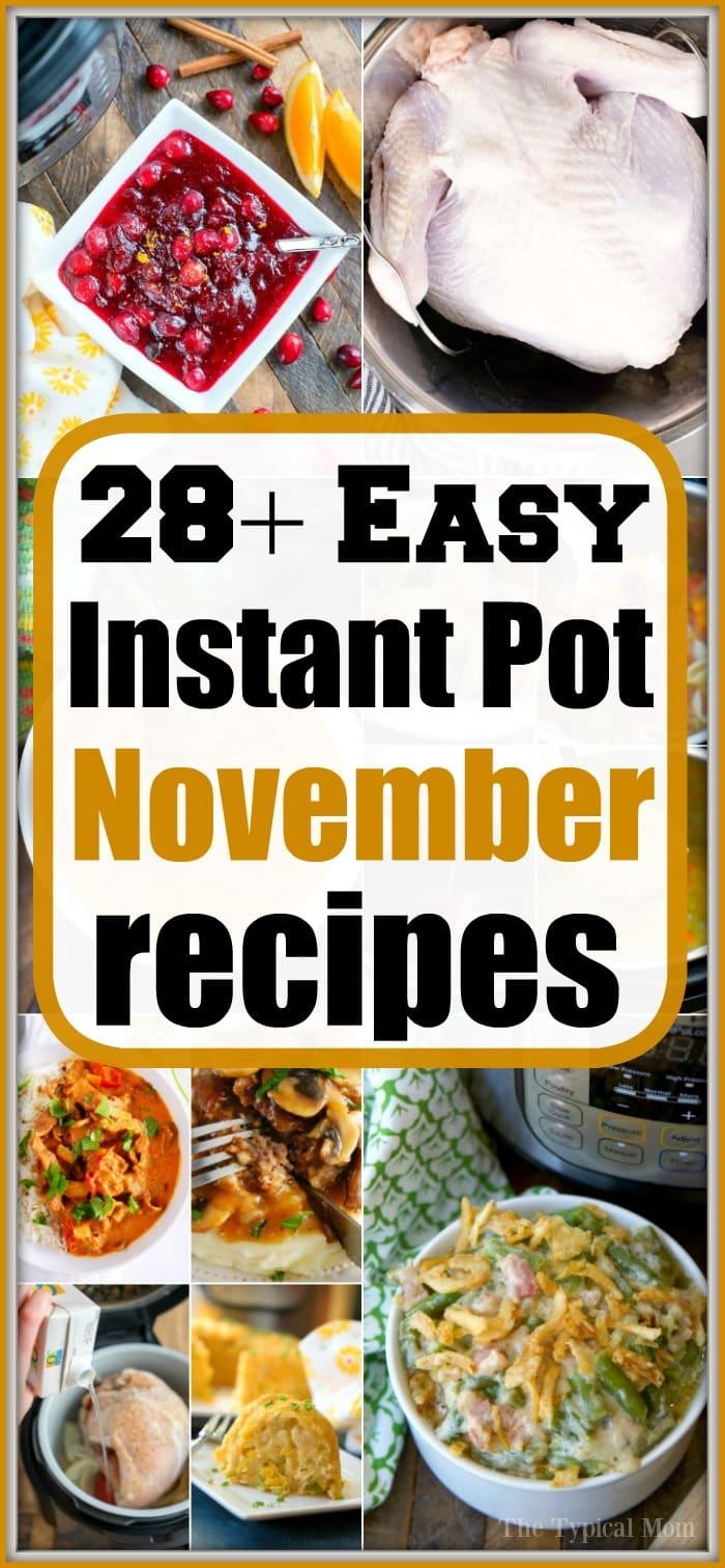 november instant pot recipes