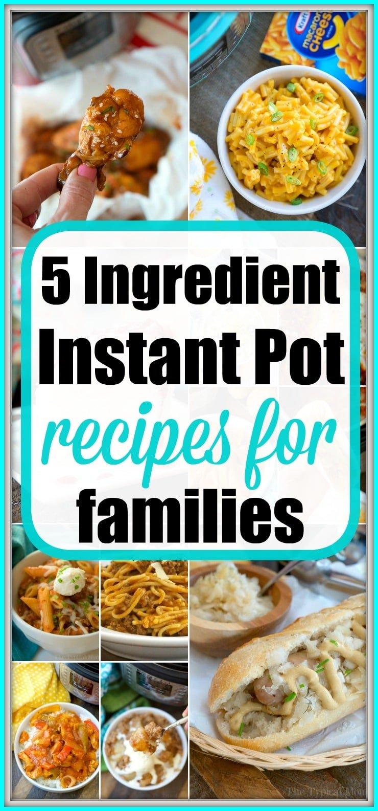 5 ingredient instant pot recipes