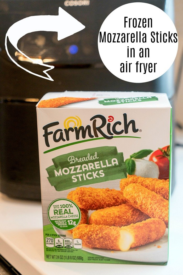 air fryer frozen mozzarella sticks