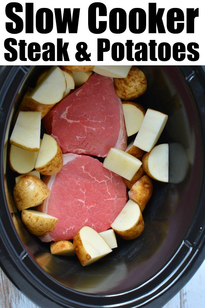 crockpot steak and potatoes