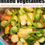 steaming vegetables in instant pot