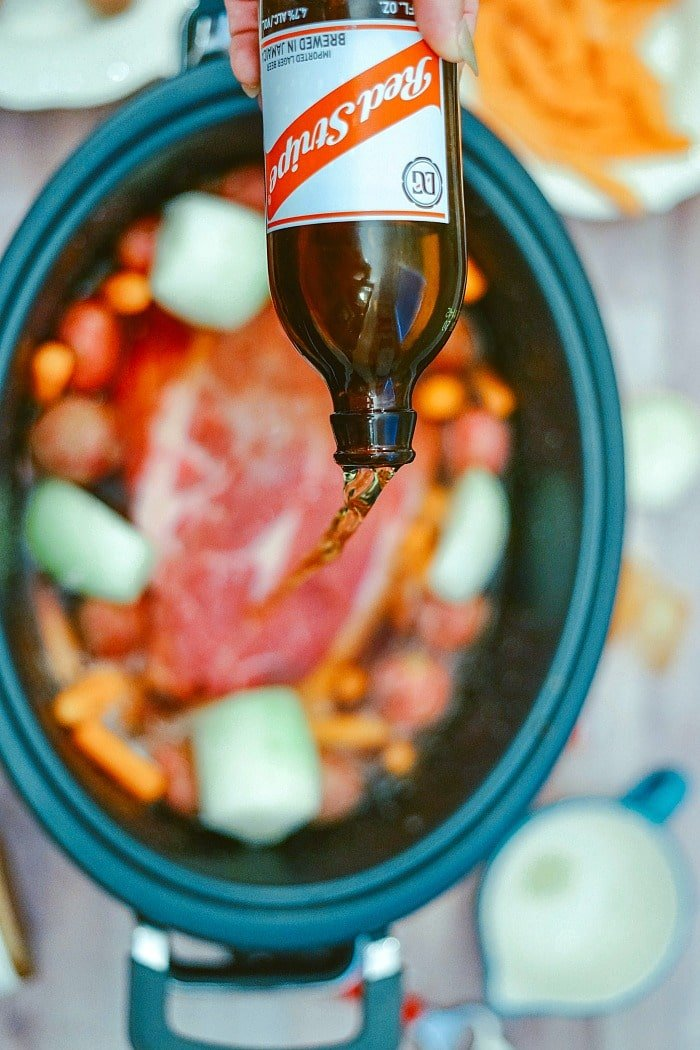 Roast with Onion Soup Mix in Crockpot