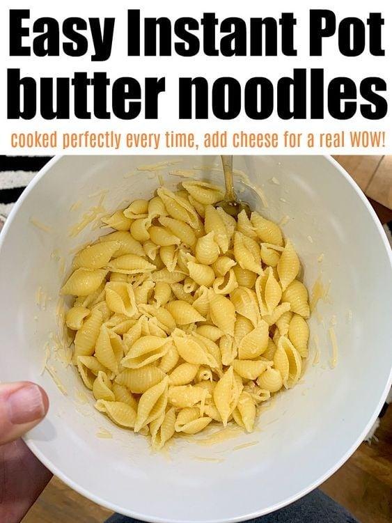 instant pot butter noodles