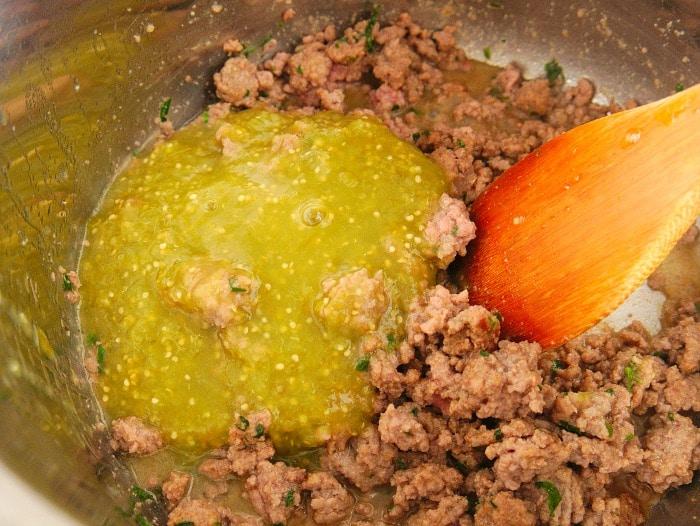 salsa verde ground beef
