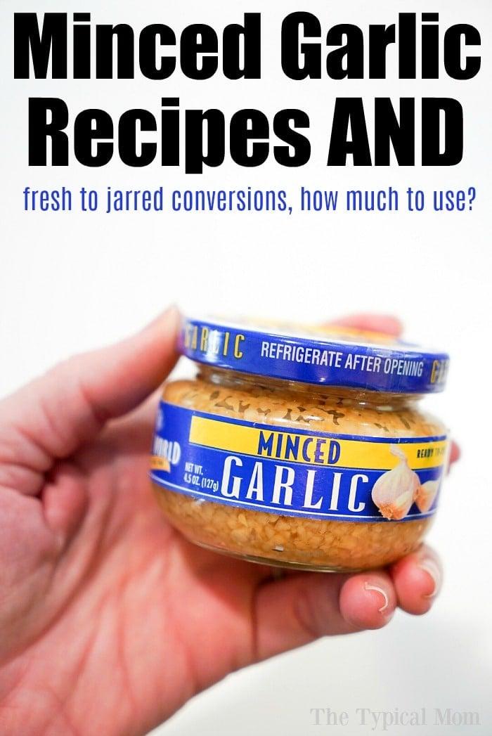 Minced Garlic Jar