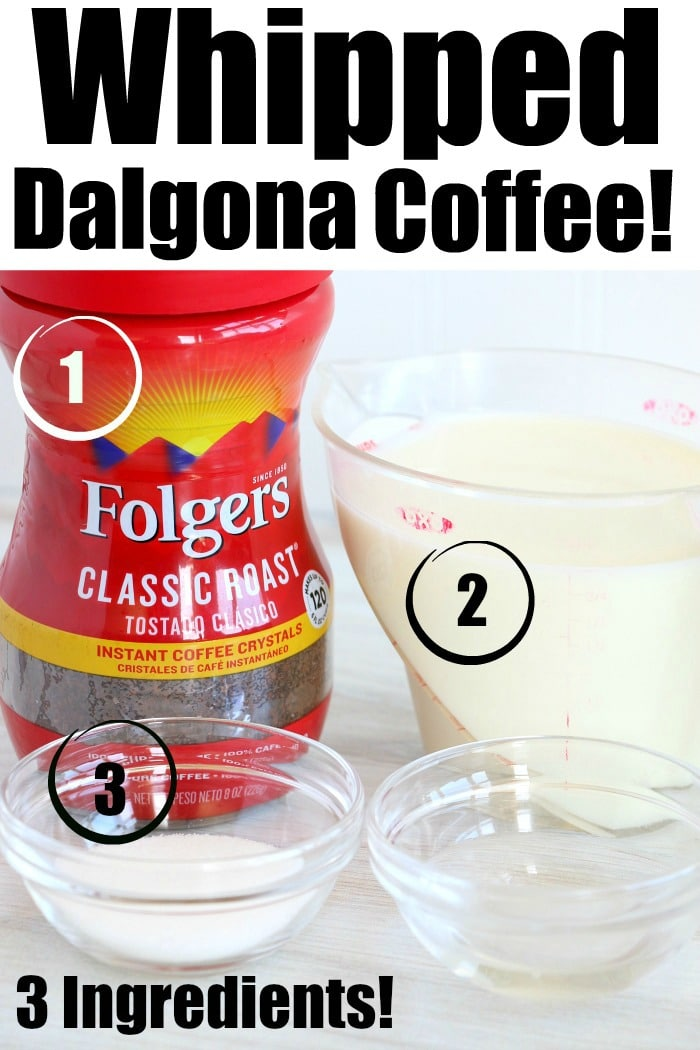 dalgona coffee ingredients
