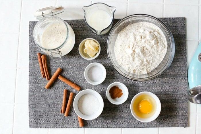 no yeast cinnamon roll ingredients