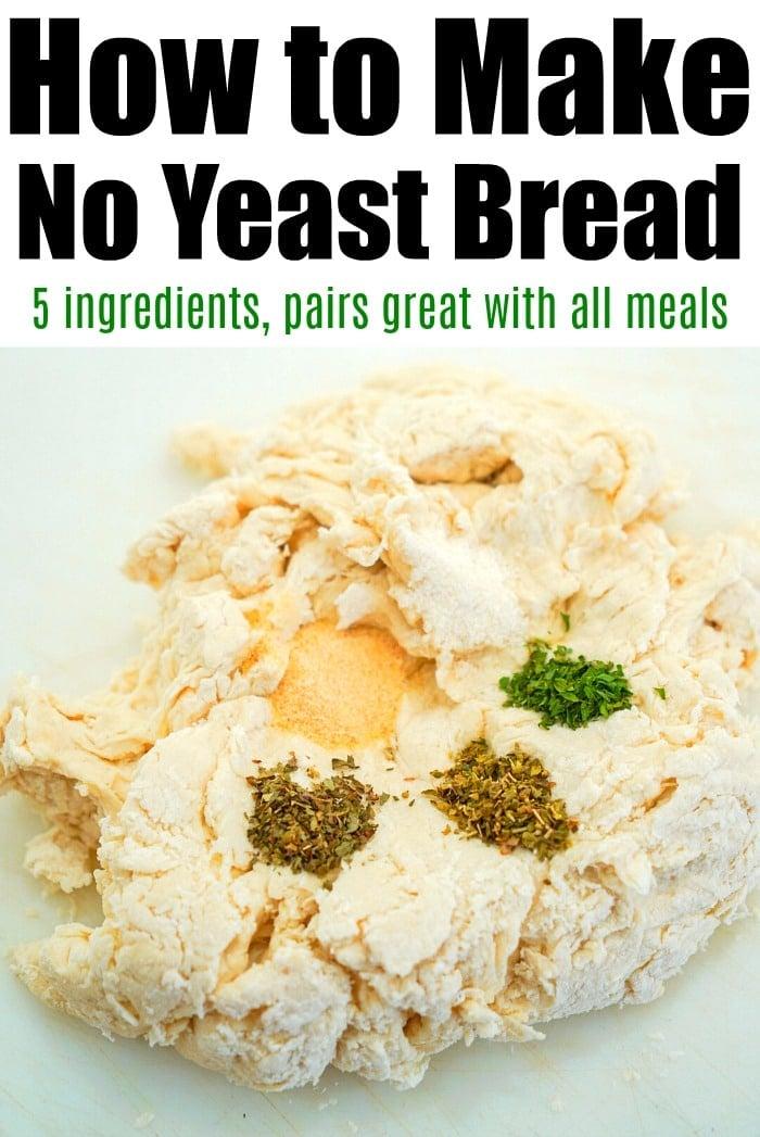 no yeast garlic bread