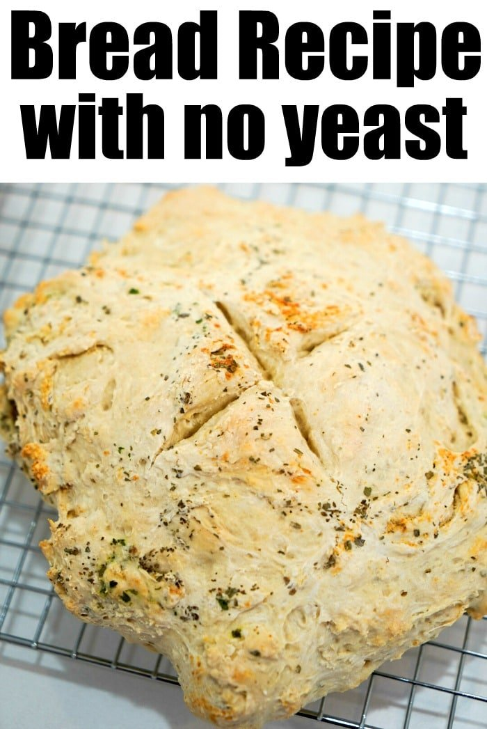 no yeast white bread