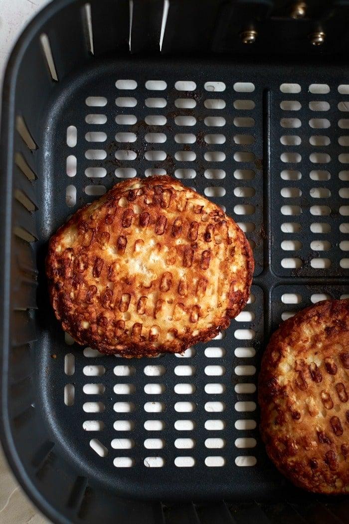 Frozen Turkey patty in Air Fryer