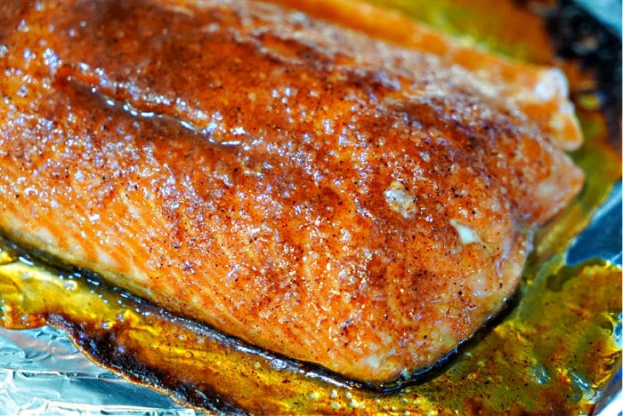 baked salmon with dry rub