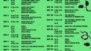 freeform halloween schedule