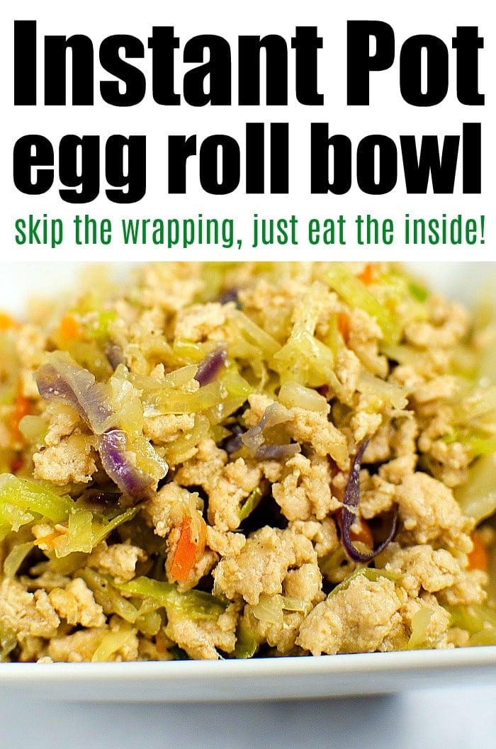 instant pot egg roll bowl