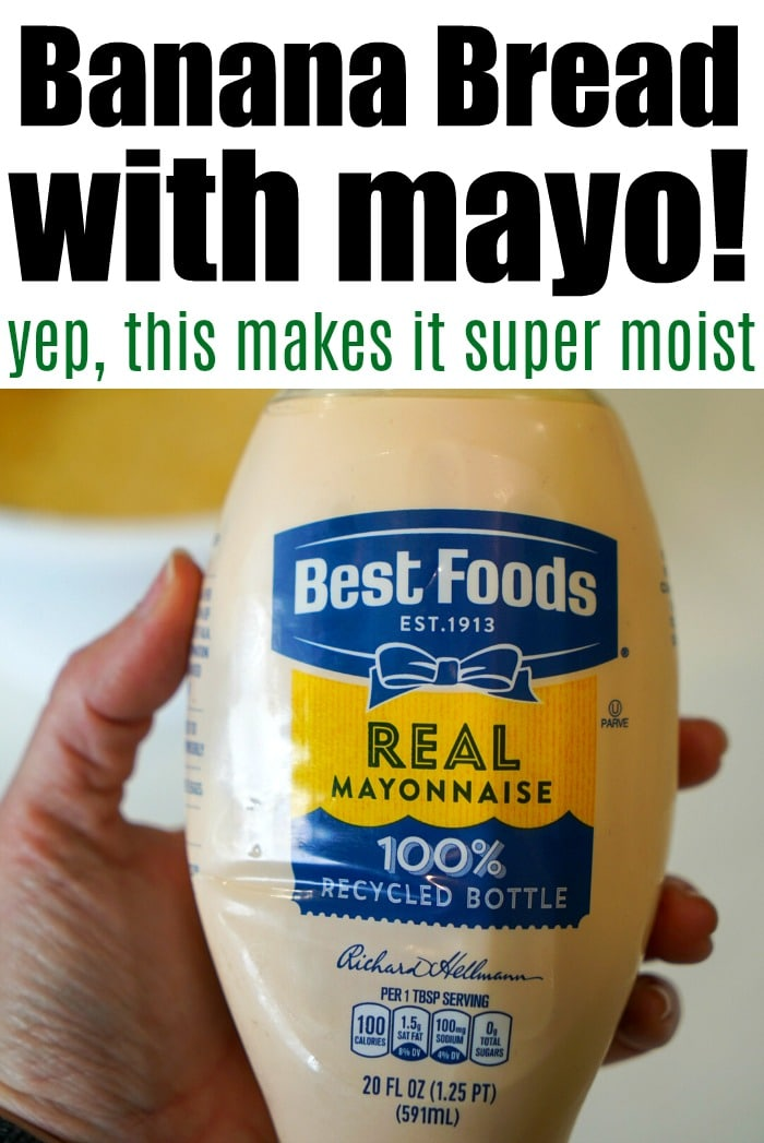 mayonnaise banana bread