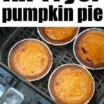 air fryer pumpkin pie