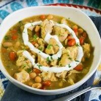 creamy white chicken chili crockpot