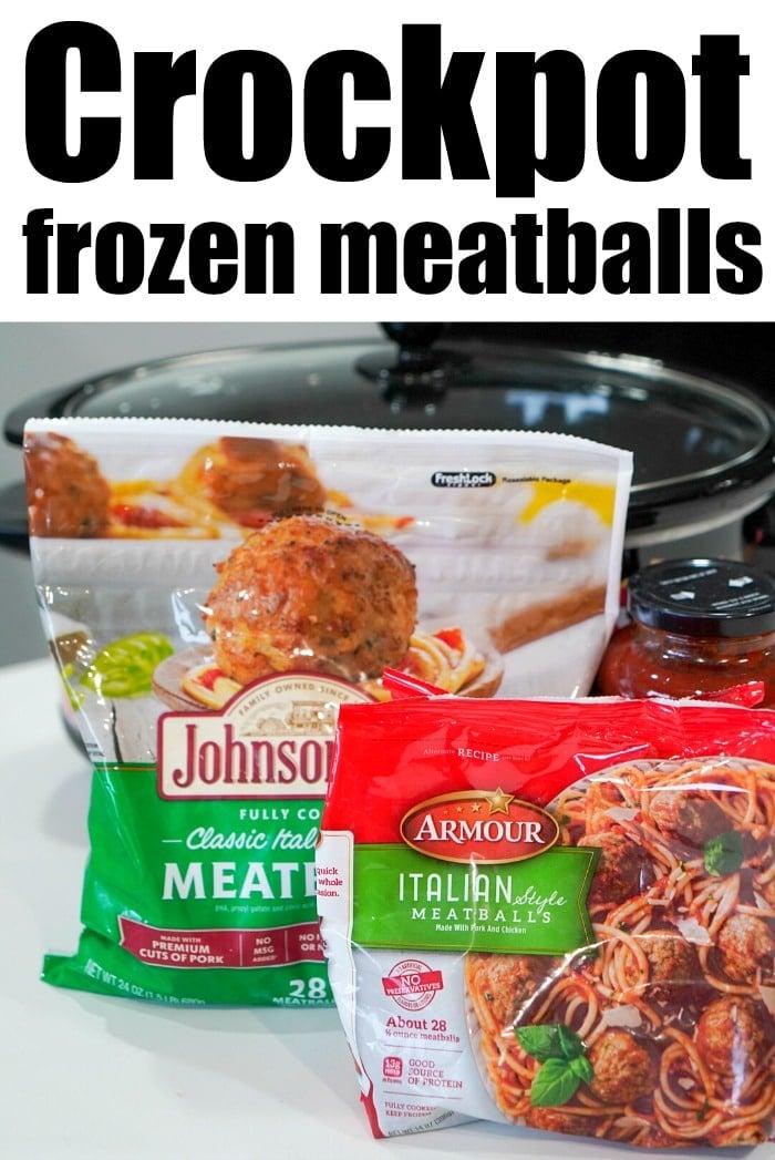 crockpot frozen meatballs