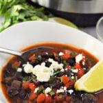 Instant Pot Black Bean Soup recipe