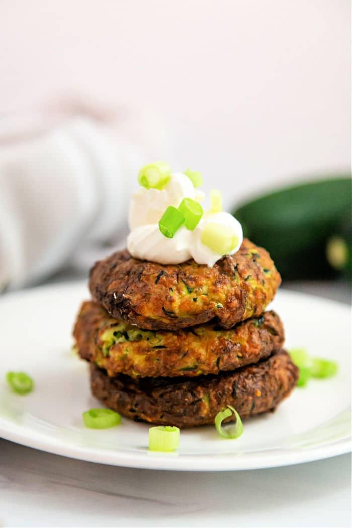air fryer zucchini fritters recipe