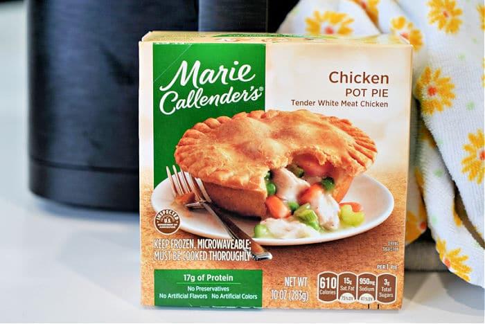 frozen chicken pot pie