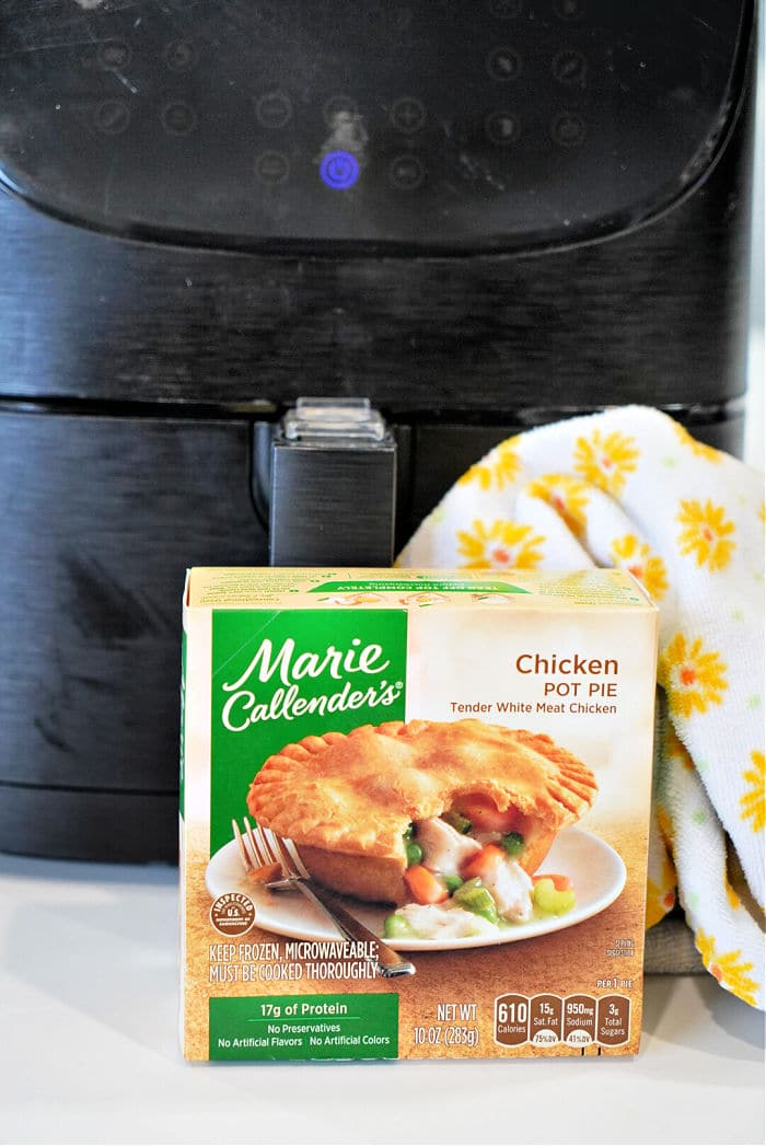 frozen pot pie air fryer