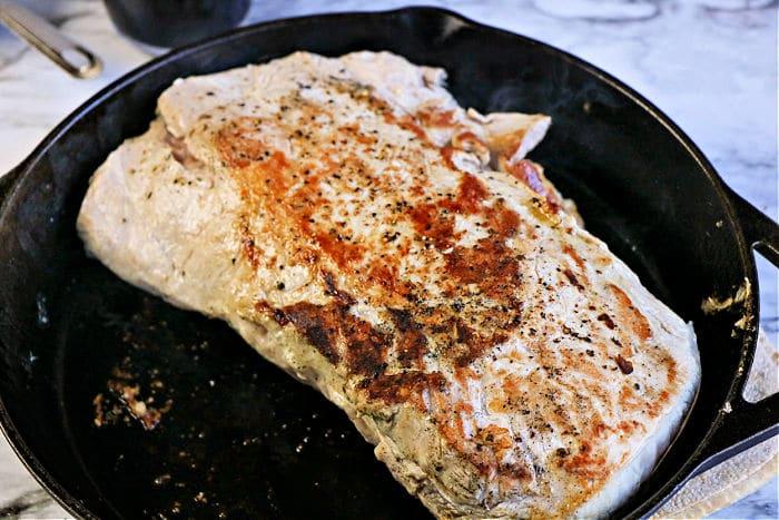 seared pork tenderloin