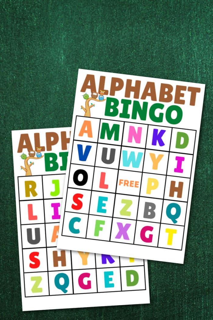 alphabet bingo printables