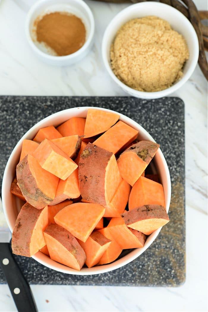 sweet potatoes cubes