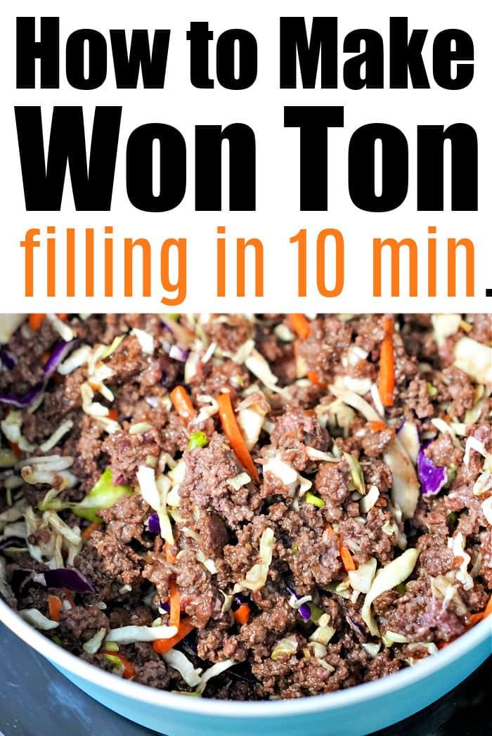 won ton filling