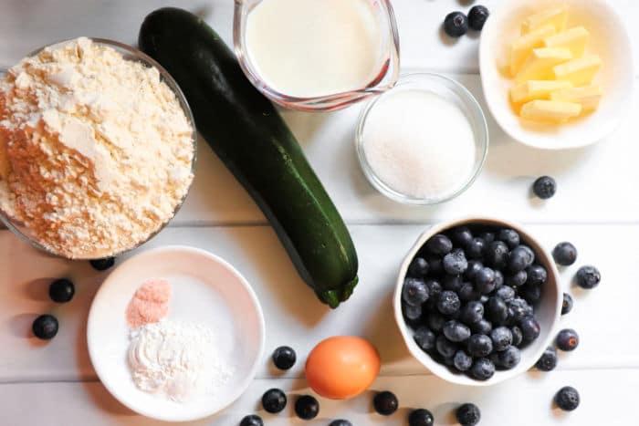 Zucchini Blueberry Muffins ingredients