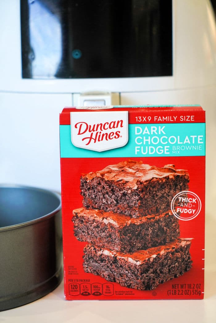 air fryer brownies from box