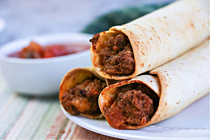 Beef and Bean Taquitos