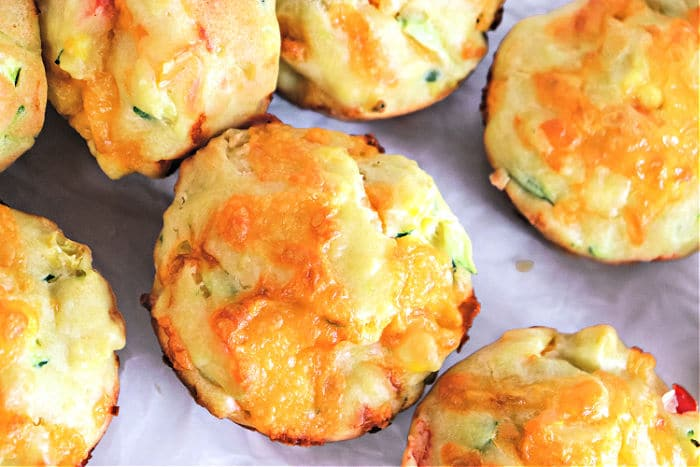 cheese veggie muffins