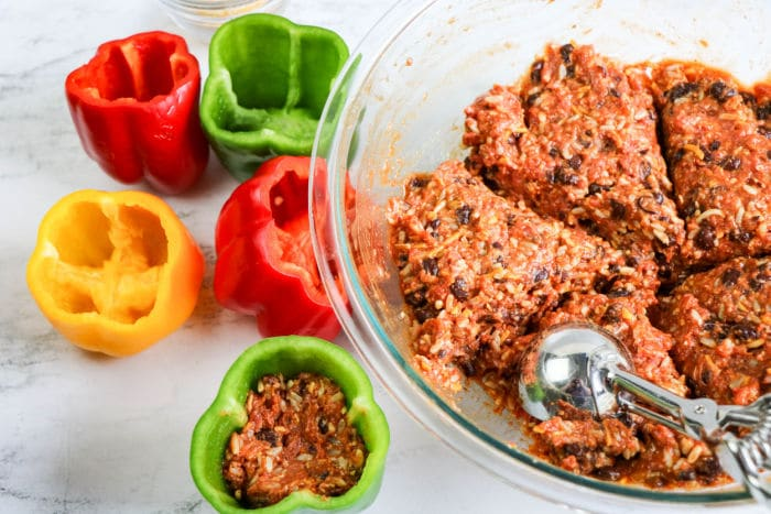 crockpot stuffed peppers no rice