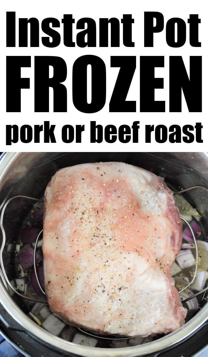 frozen pork roast in instant pot