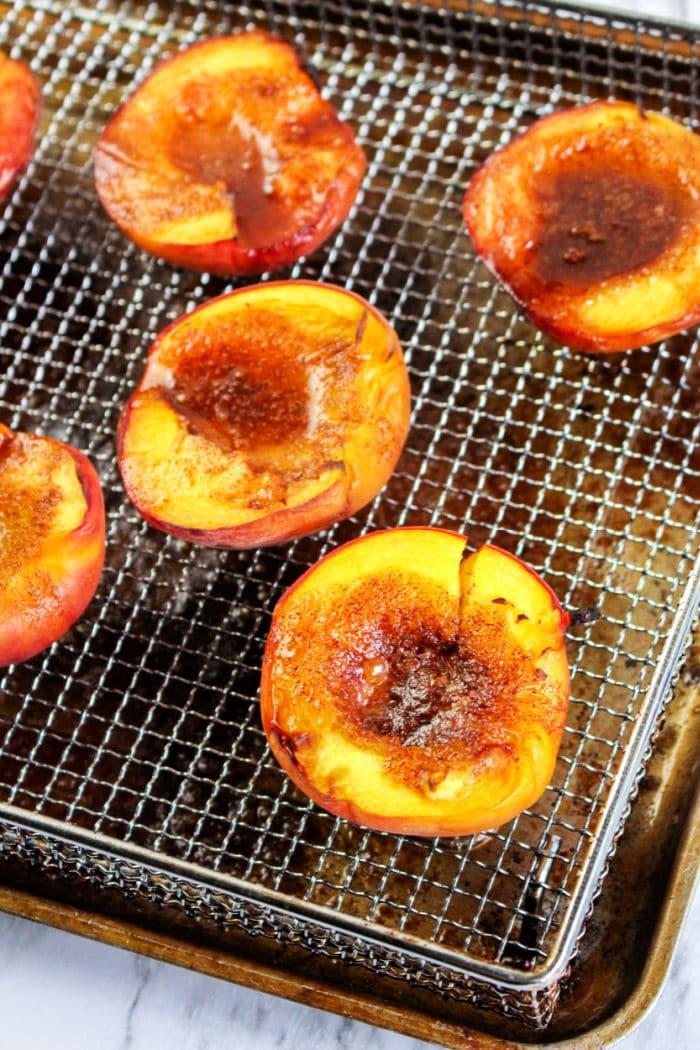 Air Fryer Peaches