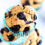 healthy Blueberry Bran Muffins