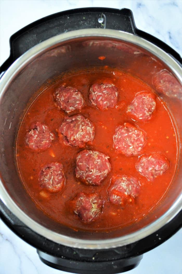 porcupine Meatballs instant pot