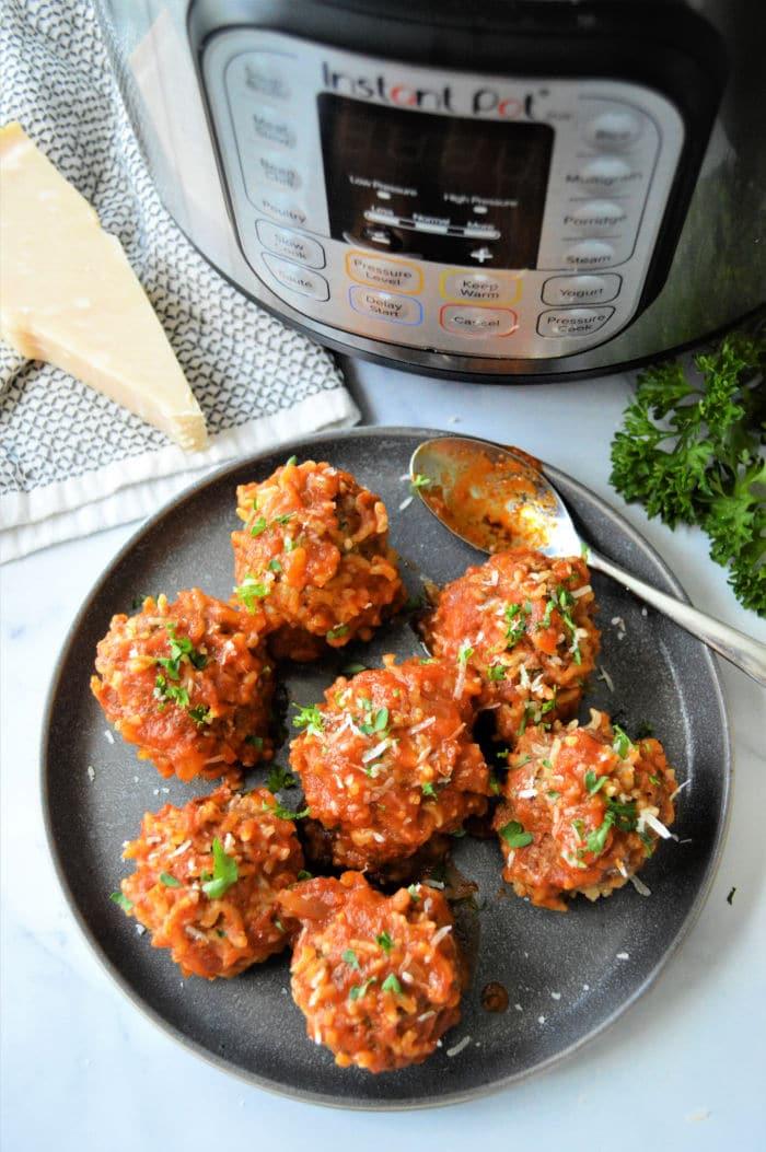 pressure cooker Porcupine Meatballs