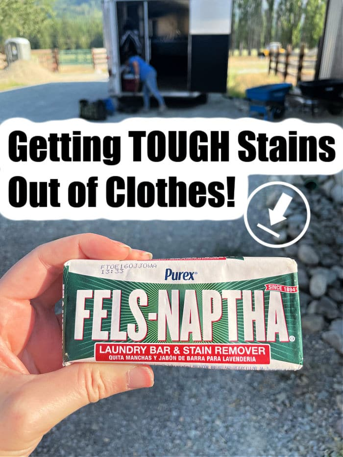 get stains out of clothes