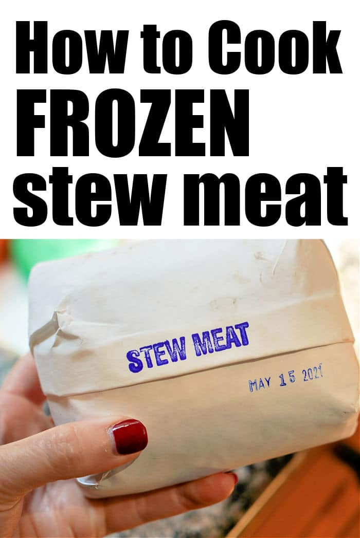 how to cook frozen stew meat